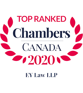 Chambers Canada - Top Ranked 2020 - Leading Firm - EY Law LLP